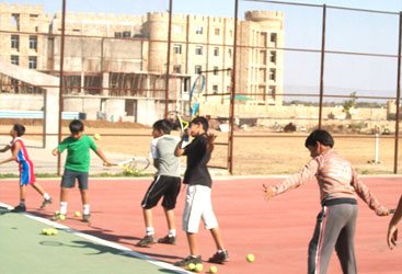 Centre Point Schools, Nagpur lawn tennis court